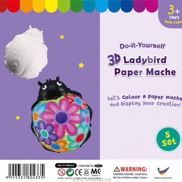 3D-animal-paper-mache-ladybird-pack-of-5