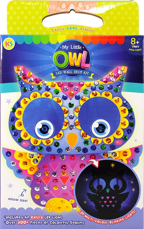 Led wall deco kit my little owl lb kidstore for Wall and deco showroom milano