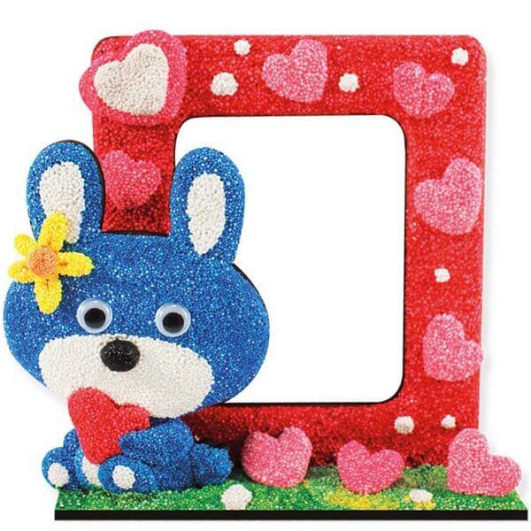 foam-clay-photo-frame-kit-rabbit