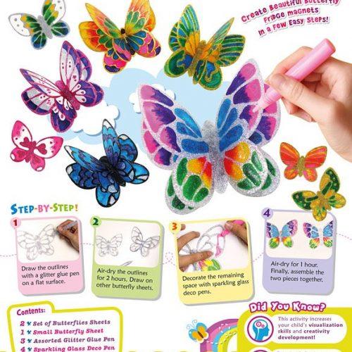 glitter-butterfly-magnet-kit