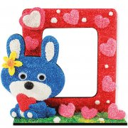foam-clay-photo-frame-kit-rabbit